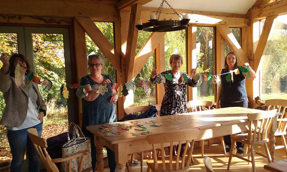 Bunting making workshop at Colmer's View, October 2016