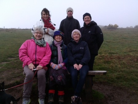 Charity walk to Silvia's bench on 28th March 2015