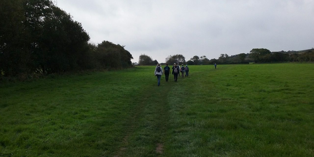 Amblers' walk to Eype in October 2017