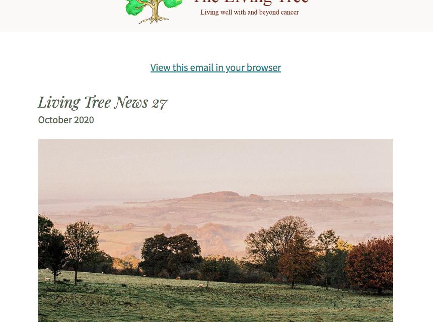 Living Tree Newsletter October 2020
